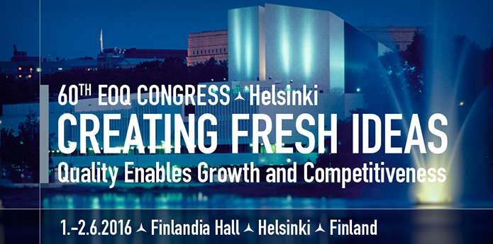 Niklas is confirmed as a keynote speaker at the EOQ Congress in Helsinki